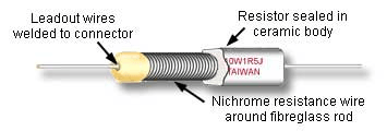 Wirewound resistor from Learnabout-electronics