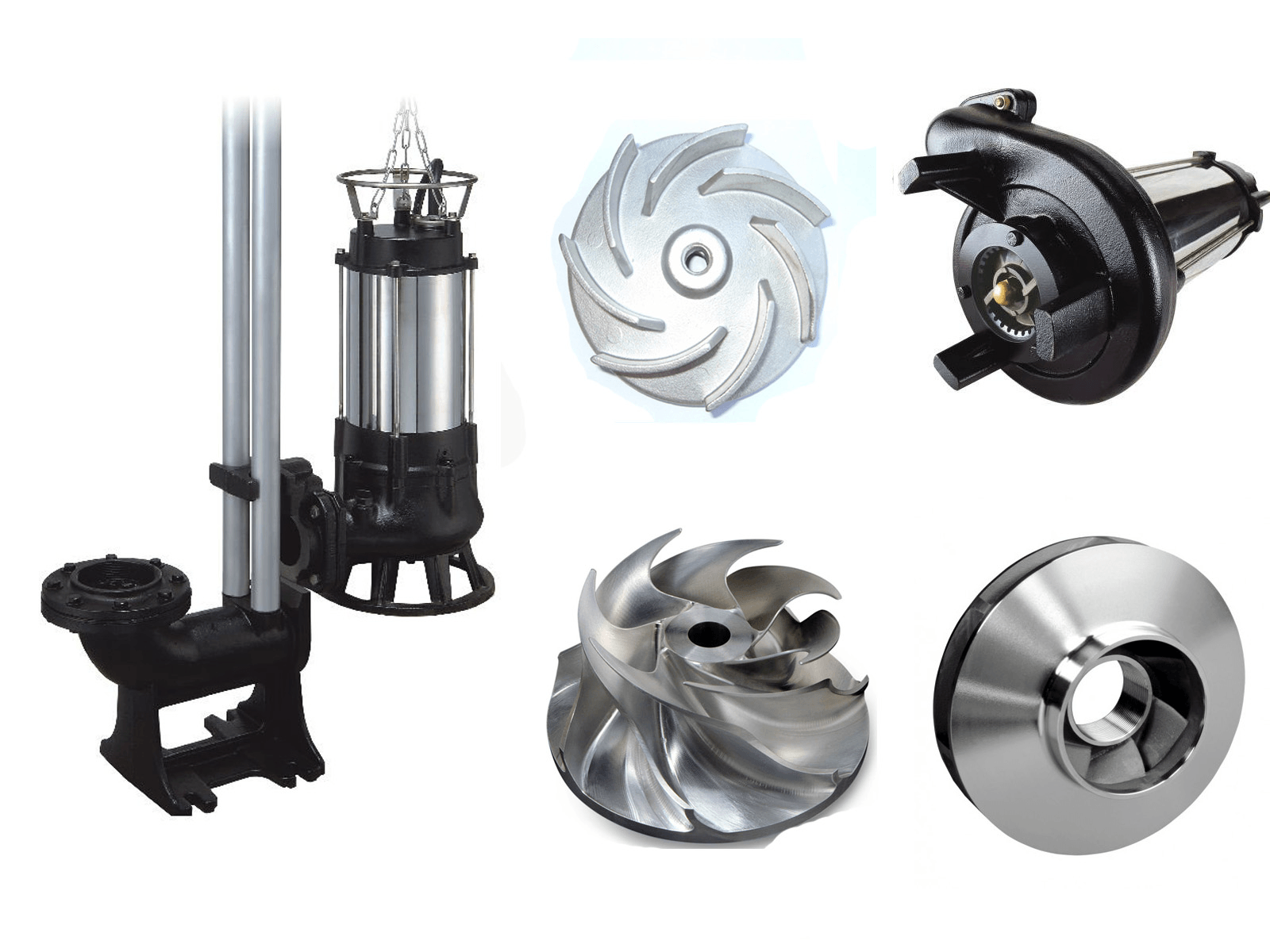 Grinder pump cutting blades and fittings from Shanghai Pacific Pump Manufacture Co., Ltd.