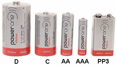 Different sizes of round alkaline batteries via EIS