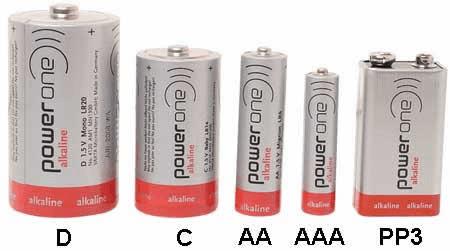 Diffe Sizes Of Round Alkaline Batteries Via Eis