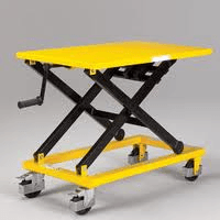 Hand crank lift table