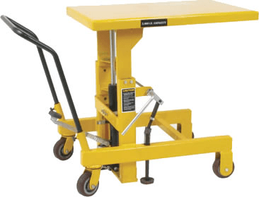 Lift table w/ floor lock choice