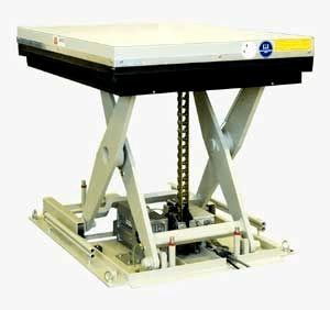Electric motor lift table