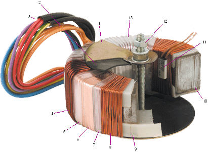 Deconstructed toroidal transformer from A+ azon
