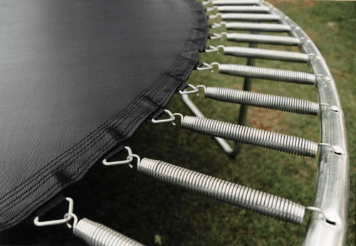 Extension Springs in a Trampoline; image courtesy of The Spring Works