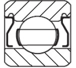 Bearing with permanent non-contact metal shields