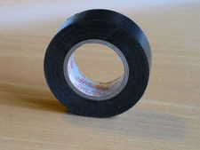 Black Adhesive Cloth Fabric Tape Cable Wiring Harness Wrap DIY Masking Acces