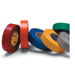 Multi-colored/variance electric tape from Rose Brand