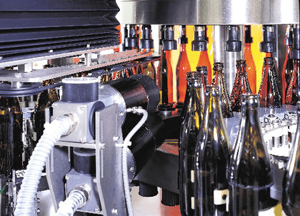 Machine vision on bottling line image