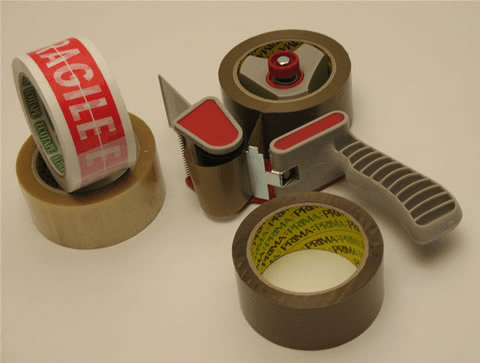 Parcel tape and tape dispenser
