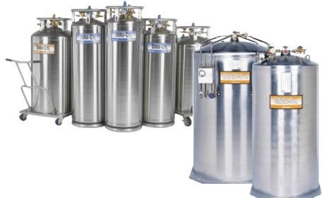 Selecting cryogenic gas cylinders