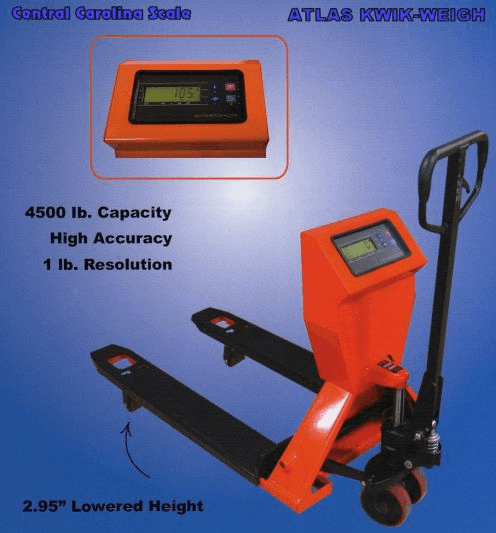 Pallet jack Scale; image courtesy of Central Carolina Scale
