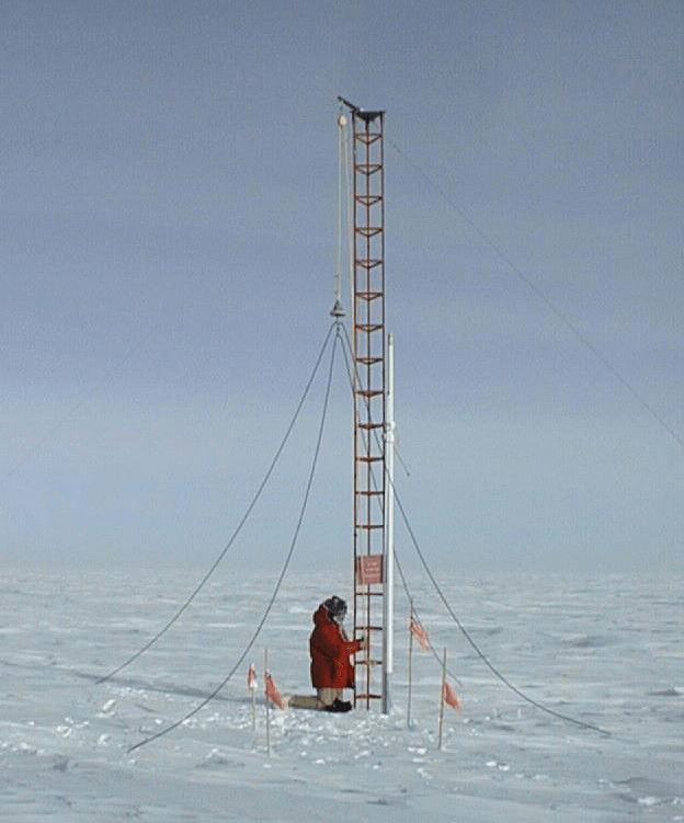 Antenna at the South Pole image