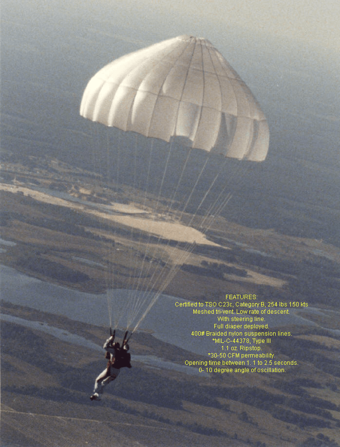 Selecting shaped parachutes