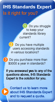 IHS Standard Expert allows you to access all types of industrial standards.