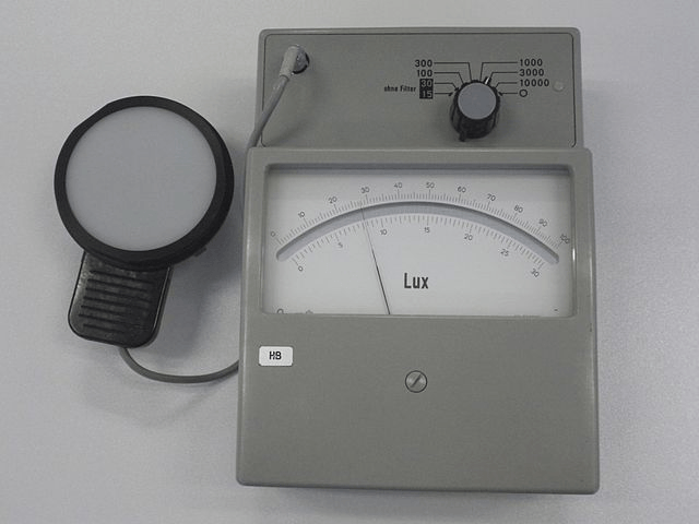 Lux light meter selection information foot candle