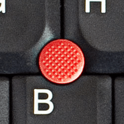 Selecting laptop pointing stick
