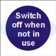 Message panel - switch off sign from Seaward Safety