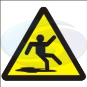 Pictorial safety sign - slippery from Seward Safety