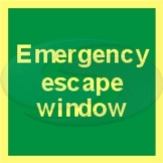 Message panel - emergency escape window sign from Seaward Safety