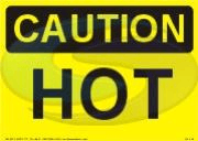 Caution - Hot sign from Seaward Safety
