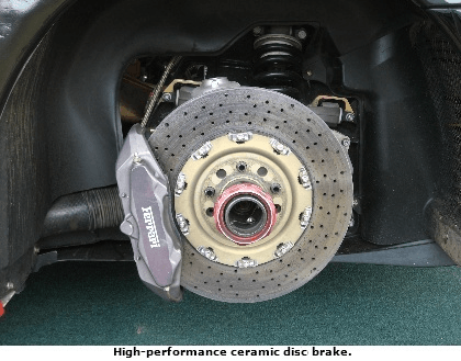 High performance ceramic disc brake