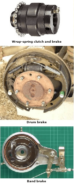 Selecting types of mechanical brakes