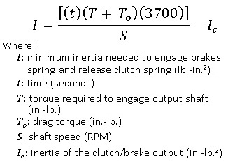 Wrap-spring inertia brake engagement