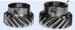 Left and right hand gear teeth