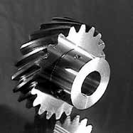 Left hand pin hub helical gear