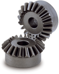 Carburized and hardened carbon steel miter gear