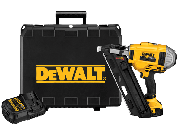 Battery powered nailer via Dewalt