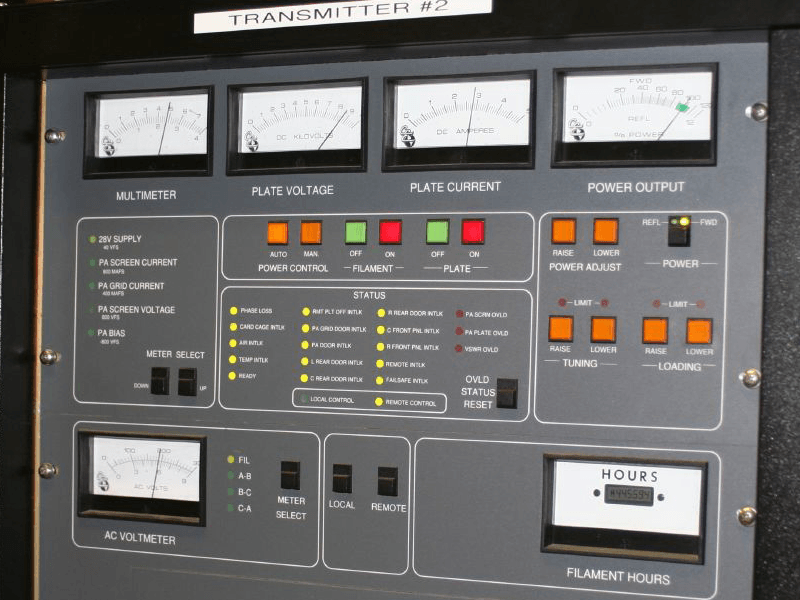 FM Transmitter Console via Wikimedia Commons/WDET-FM