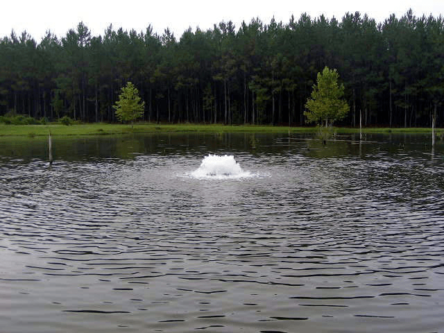 Floating fountain aerator