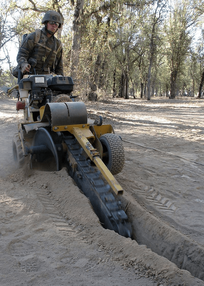 Portable trencher