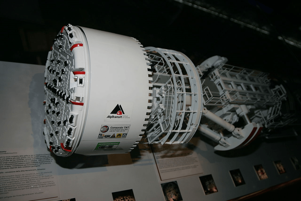 Tunnel boring machine example