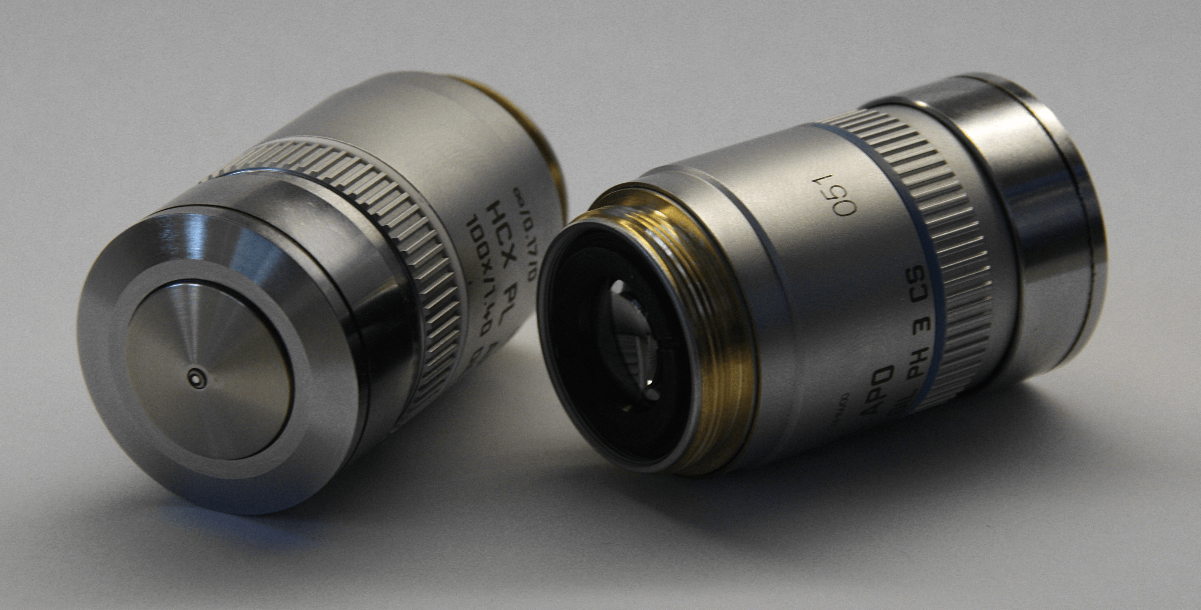 Microscope lenses and objectives
