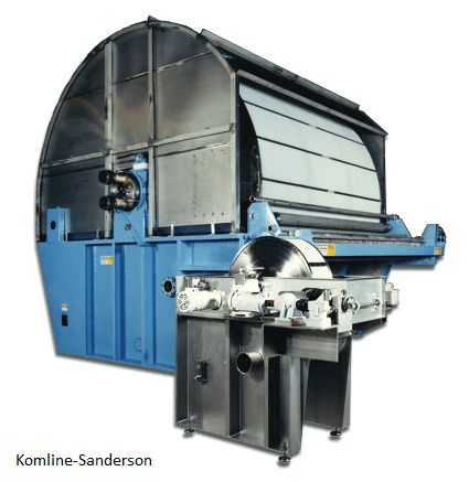 Rotary drum vacuum filter from Komline-Sanderson
