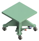 1000 Pound Capacity Manual Powered Lift Table - 30 Inch Square Deck
