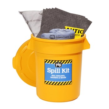 PIG® Spill Kit in 20-Gallon High-Visibility Economy Container