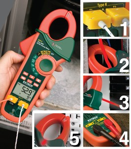 Extech EX623: See Photo Key below for function descriptions.