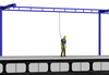 Free Standing Monorail Fall Protection Systems-Image