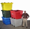 Colorful Poly Storage Bins-Image