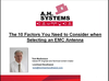 A.H. Systems Inc. - Factors to consider when selecting an EMC antenna