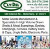 Cly-Del Manufacturing Company - Concept Design of Small Press Parts & Eyelets