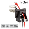 icotek GmbH - Angled flange enclosure for preassembled cables