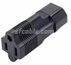 IEC C14 3 prong plug to NEMA 5-15R USA receptacle-Image