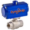 DynaQuip Controls - Air Automated High Pressure 2-Piece SS Ball Valve