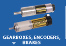 Gearboxes, Encoders, Brakes