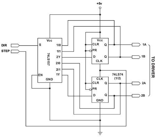 Another example of a two-phase drive translator circuit